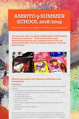 AMBITO 9  SUMMER SCHOOL 2018/2019