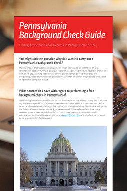 Pennsylvania Background Check Guide