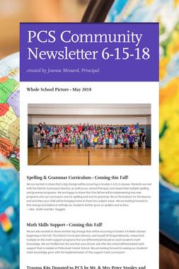 PCS Community Newsletter 6-15-18