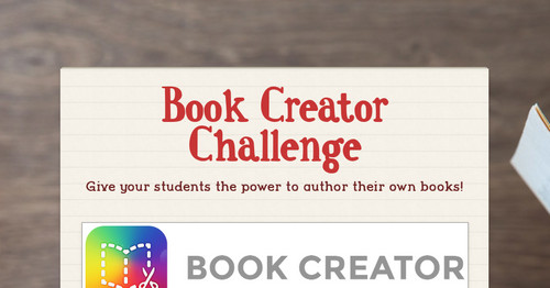 Book Creator Challenge | Smore Newsletters