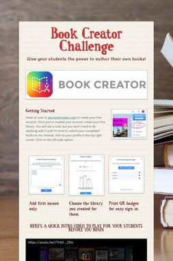 Book Creator Challenge