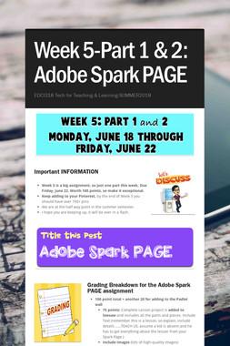 Week 5-Part 1 & 2: Adobe Spark PAGE