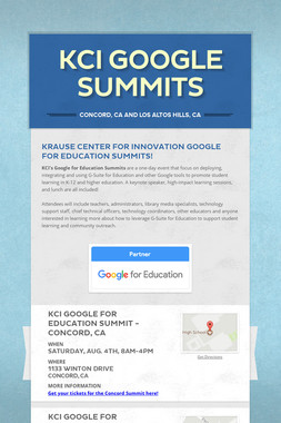 KCI Google Summits