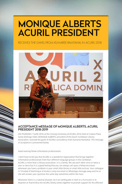 MONIQUE ALBERTS ACURIL PRESIDENT