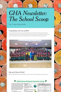 GHA Newsletter: The School Scoop