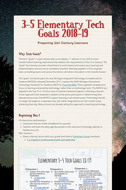 3-5 Elementary Tech Goals 2018-19