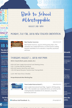 Back to School #Unstoppable