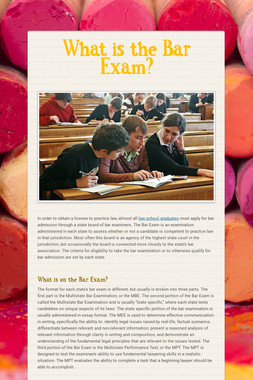 What is the Bar Exam?