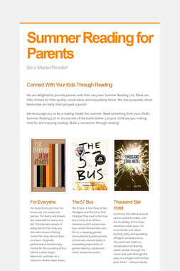 Summer Reading for Parents