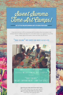 Sweet Summa Time Art Camps!