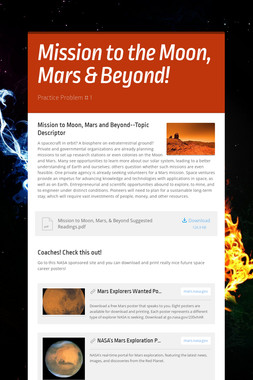 Mission to the Moon, Mars & Beyond!