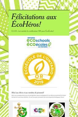 Félicitations aux ÉcoHéros!