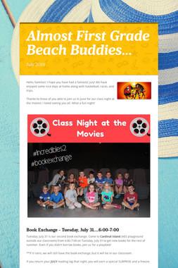 Almost First Grade Beach Buddies...