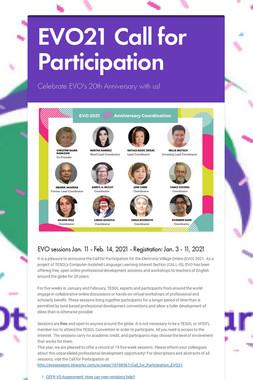 EVO20 Call for Participation