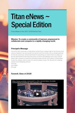 Titan eNews ~ Special Edition