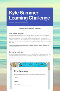 Kyte Summer Learning Challenge