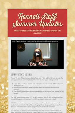 Rennell Staff Summer Updates