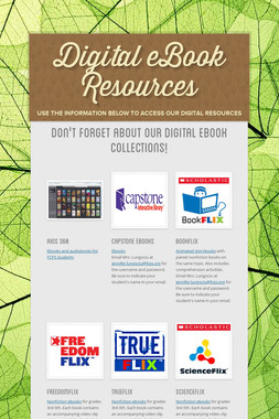 Digital eBook Resources