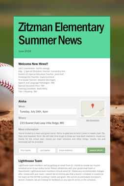 Zitzman Elementary Summer News
