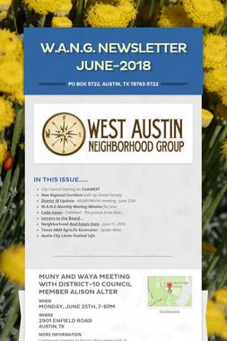 W.A.N.G. Newsletter June-2018