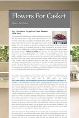 Flowers For Casket