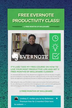Free Evernote Productivity Class!