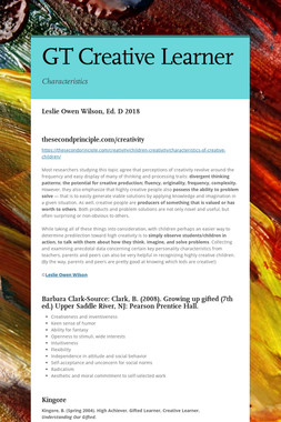 GT Creative Learner
