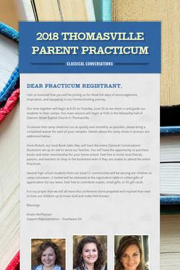 2018 Thomasville Parent Practicum