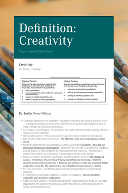 Definition: Creativity