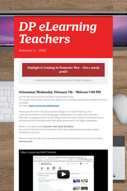 DP eLearning Teachers