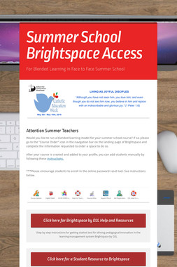 Summer School Brightspace Access