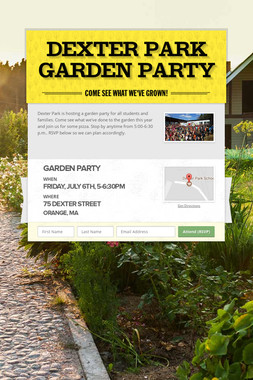 Dexter Park Garden Party
