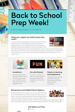 Back to School Prep Week!
