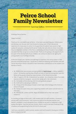 Peirce School Family Newsletter