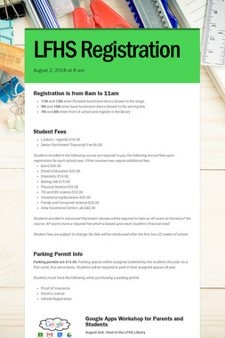 LFHS Registration