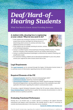 Deaf/Hard-of-Hearing Students