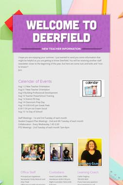 Welcome to Deerfield