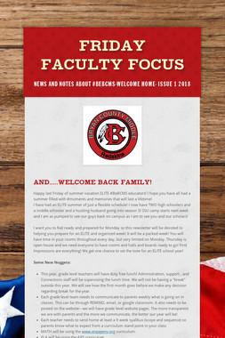 Friday Faculty Focus