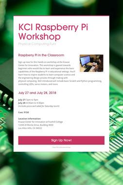 KCI Raspberry Pi Workshop