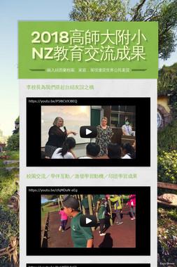 2018高師大附小 NZ教育交流成果