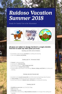 Ruidoso Vacation Summer 2018