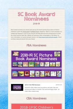 SC Book Award Nominees