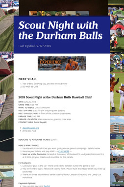Scout Night with the Durham Bulls