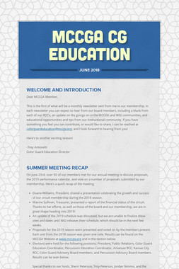 MCCGA CG Education