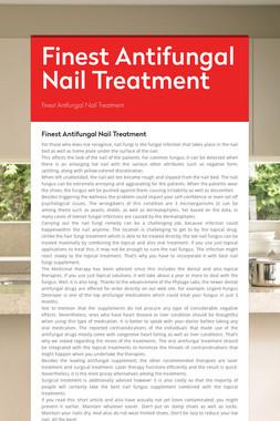 Finest Antifungal Nail Treatment
