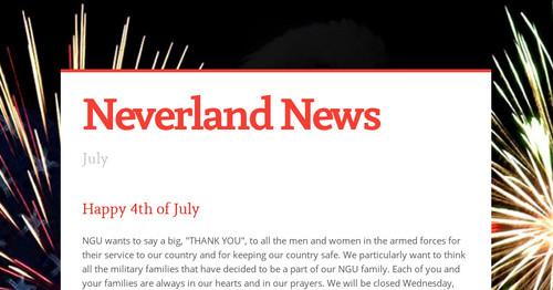 Neverland News | Smore Newsletters for Education