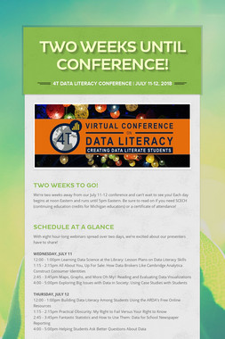 TWO WEEKS UNTIL CONFERENCE!