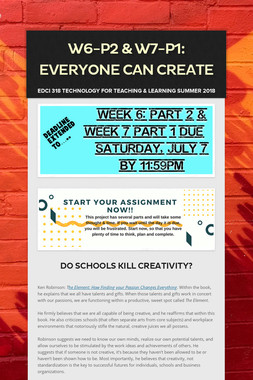 W6-P2 & W7-P1: Everyone Can Create