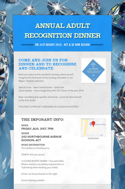Annual Adult Recognition Dinner