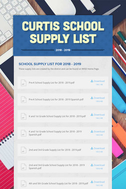 Curtis School Supply List